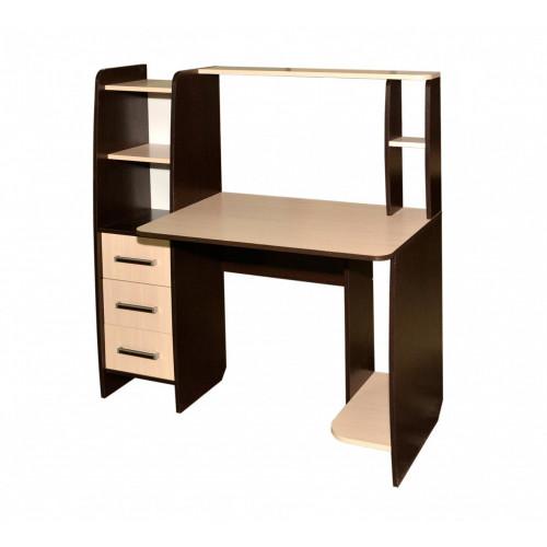 Стол компьютерный КЛ № 6,3, ЛДСП Венге/Дуб молочный