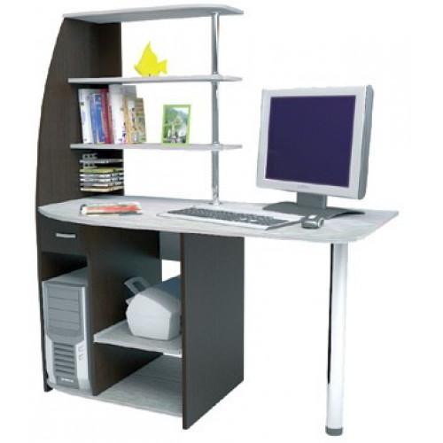 Стол компьютерный Скай, ЛДСП Венге/Сосна Лоредо