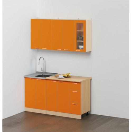 """Кухонный гарнитур """"Эконом №2"""",1.5 м  Оранжевый"""