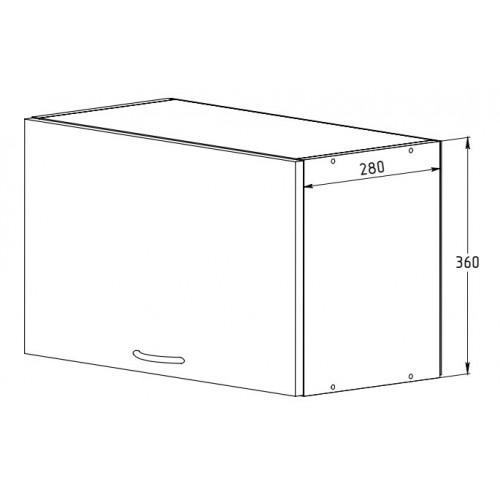 Шкаф 600 с дверью (открывание вверх)