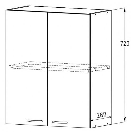 Шкаф 600 с полкой