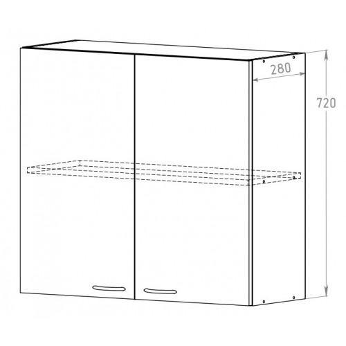 Шкаф 800 с полкой