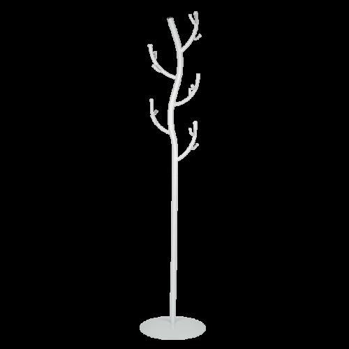 Вешалка-стойка № 9 Дерево, белое серебро