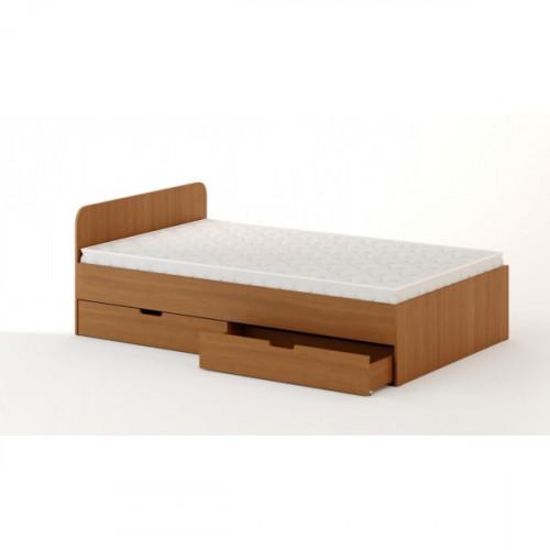 Кровать с ящиками 1200 (без матраца), Бук