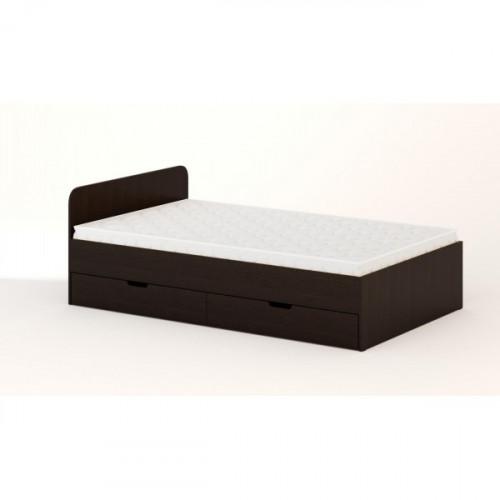 Кровать с ящиками 1200 (без матраца), Венге
