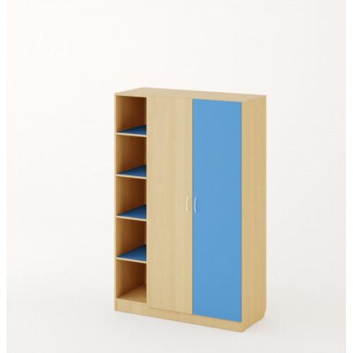 Шкаф №2, Дуб беленый/Синий